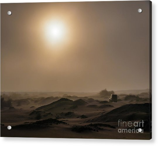 Foggy Morning In The Namib Desert Acrylic Print