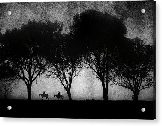 Foggy Morning Ride Acrylic Print