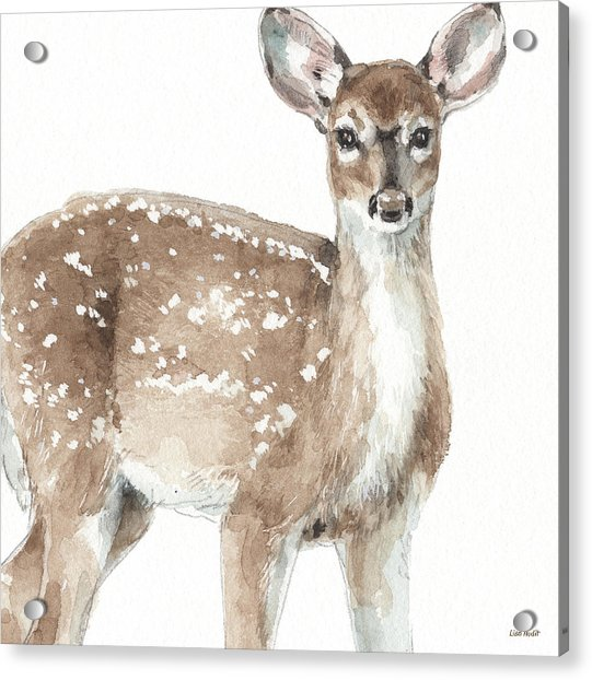Forest Friends Vi Acrylic Print by Lisa Audit