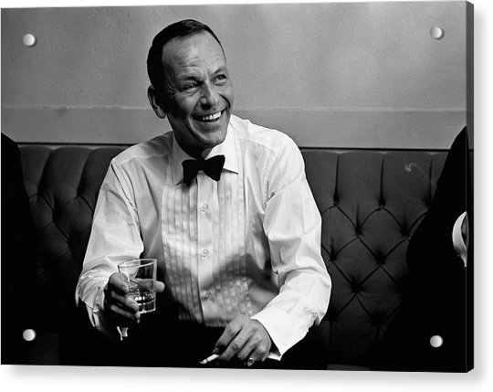 Frank Sinatra Backstage At The Sands Acrylic Print