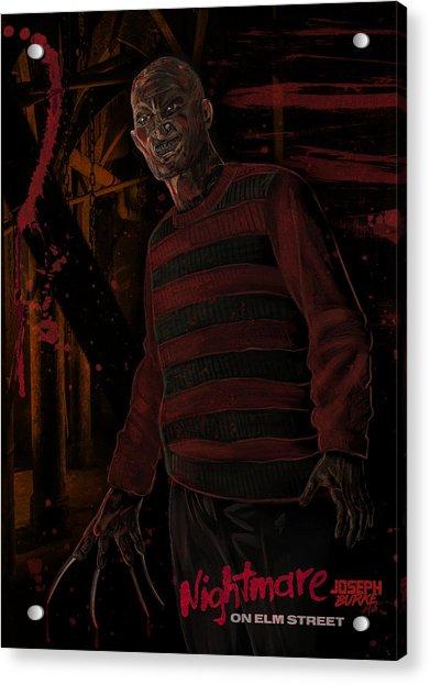 Freddy Krueger Acrylic Print by Joseph Burke