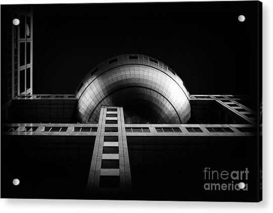 Fuji Tv Building In Tokyo Acrylic Print by Delphimages Photo Creations
