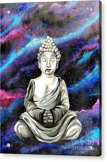 Galaxy Buddha  Acrylic Print