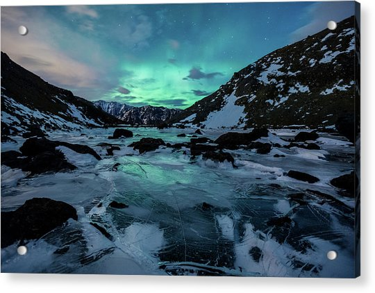 Acrylic Print featuring the photograph Gale-force Aurora H by Tim Newton