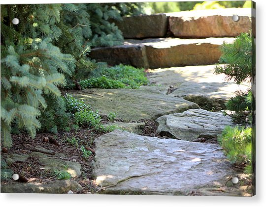 Garden Landscape - Stone Stairs Acrylic Print
