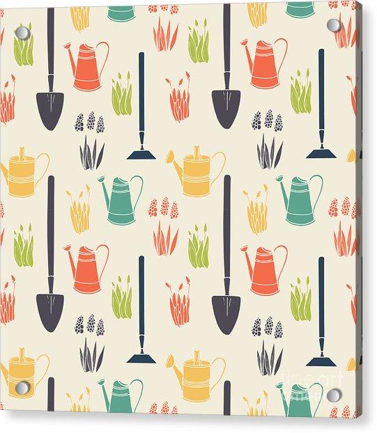 Garden Seamless Pattern Acrylic Print by Tashanatasha