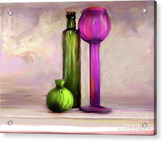 Glass On Glass Acrylic Print