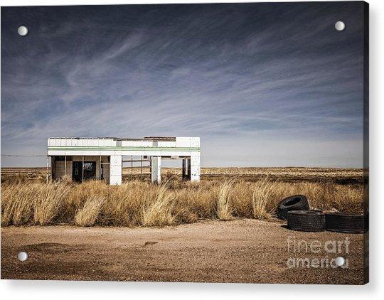 Glenrio Abandoned Gas Station  Acrylic Print