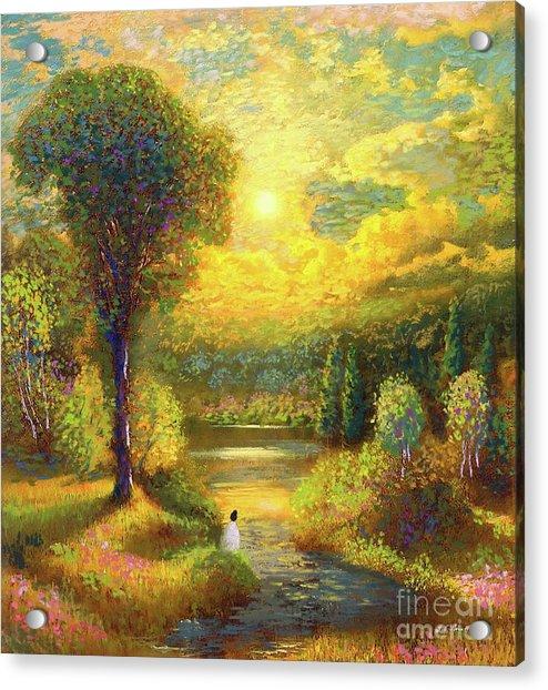 Golden Peace Acrylic Print