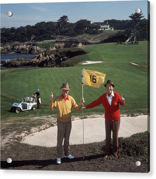 Golfing Pals Acrylic Print by Slim Aarons
