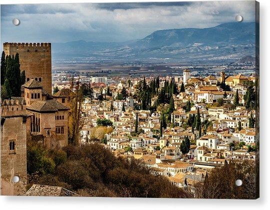 Granada And La Alhambra Acrylic Print