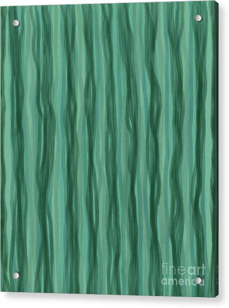Green Stripes Acrylic Print