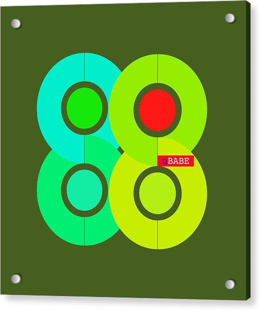 Green Style Acrylic Print
