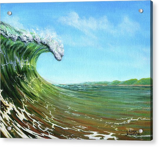 Gulf Of Mexico Surf Acrylic Print