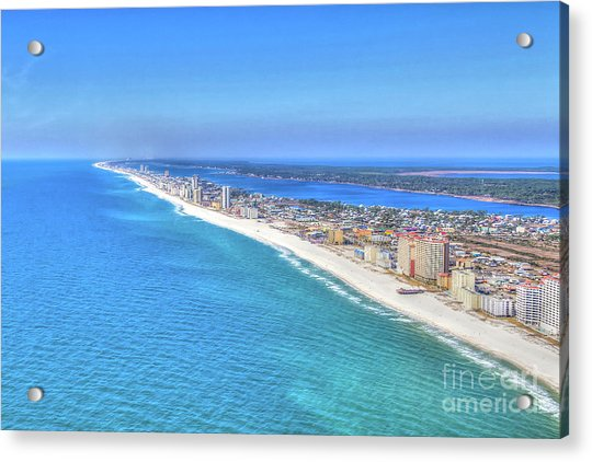 Gulf Shores Beaches 1335 Tonemapped Acrylic Print