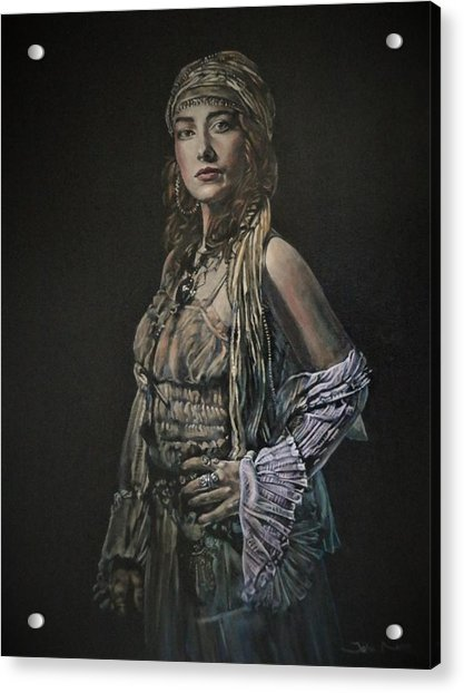 Gypsy Portrait Acrylic Print