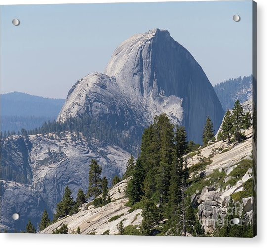 Half Dome And Yosemite Valley From Olmsted Point Tioga Pass Yosemite California Dsc04221-2 Acrylic Print