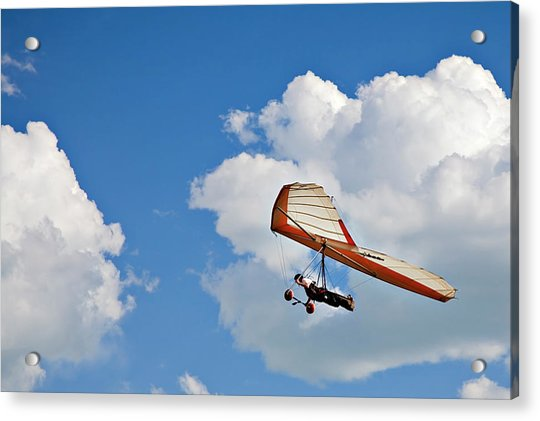 Hang Gliding In The Clouds Acrylic Print