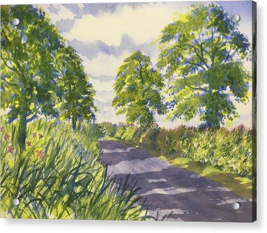 Hedgerows On Rudston Road Acrylic Print