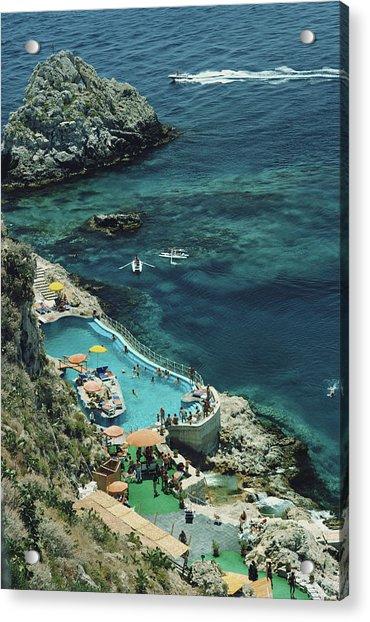 Hotel Taormina Pool Acrylic Print