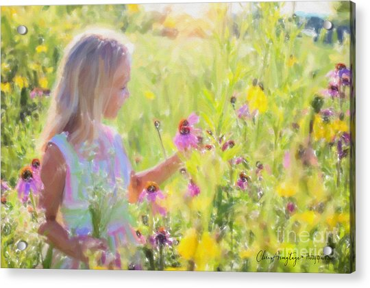I Would Pick More Daisies ... Acrylic Print