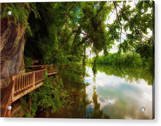Ijam Nature Park Boardwalk Along The Tennessee River Acrylic Print