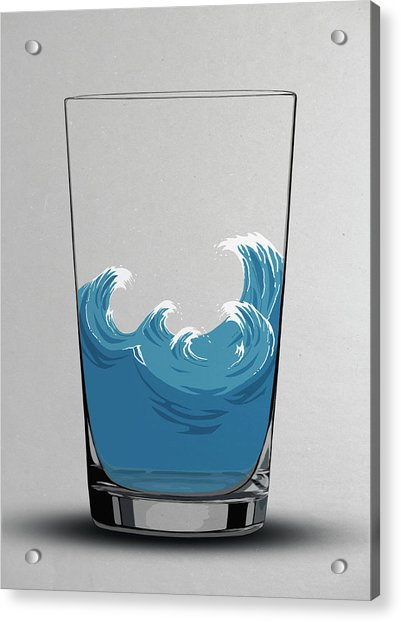 Illustration Of Choppy Waves In A Water Acrylic Print