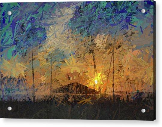 Impressions Of A Beach Sunset Acrylic Print