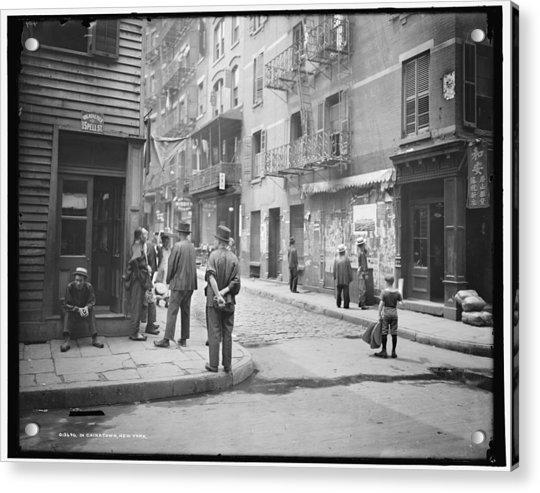 In Chinatown  New York 1900 Acrylic Print