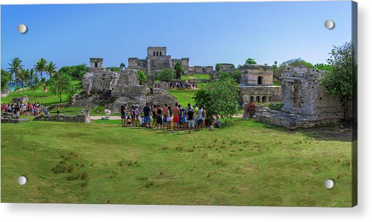 In The Footsteps Of The Maya Acrylic Print