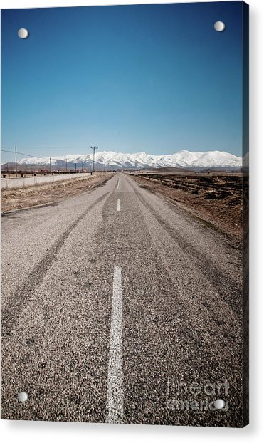 infinit road in Turkish landscapes Acrylic Print