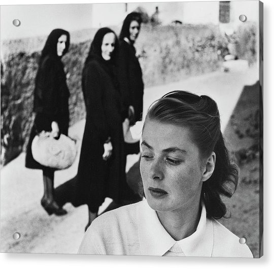 Ingrid Bergman In Italy For Stromboli Acrylic Print by Gordon Parks