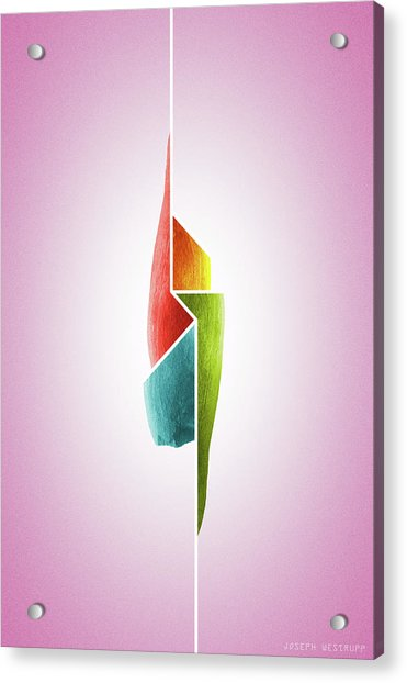Innaiant Ice Cream Redux - Surreal Abstract Jawbone Collage Acrylic Print