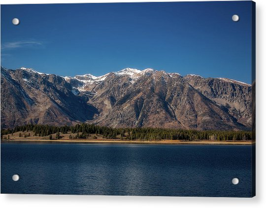 Jackson Lake Wyoming Acrylic Print
