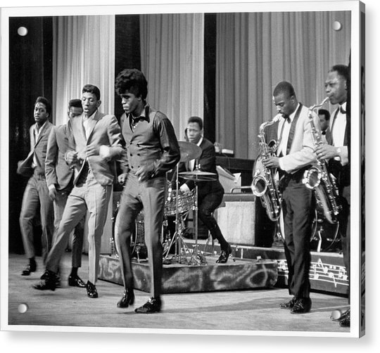 James Brown And Famous Flames At The Acrylic Print by Michael Ochs Archives
