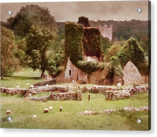 Jerpoint Park - Irish Landscape With Ruins Acrylic Print