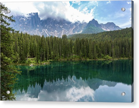 Karersee And Latemar Acrylic Print