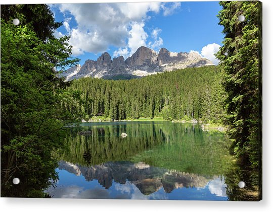 Karersee And Rosengarten Group Acrylic Print