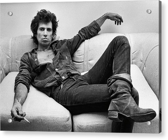 Keith Richards Portrait Session Acrylic Print