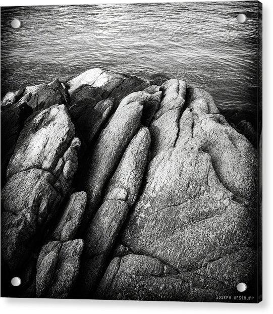 Ko Samet Rocks In Black Acrylic Print