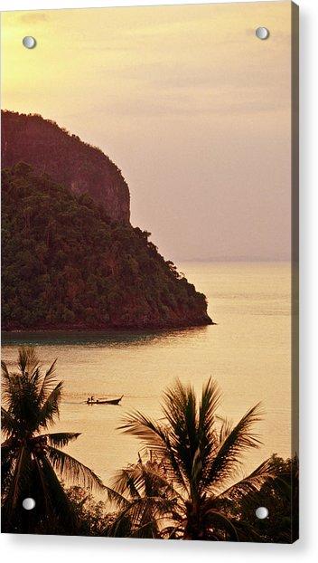 Krabi Province, Ko Phi Phi Don, Sunset Acrylic Print by John Seaton Callahan