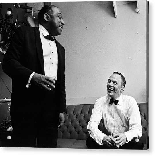 L-r Count Basie And Frank Sinatra Acrylic Print by John Dominis