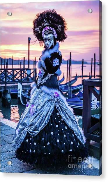 Lady In Black Acrylic Print