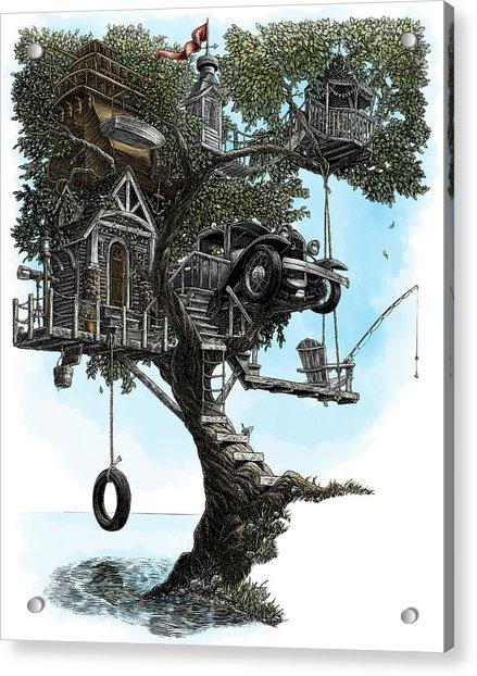 Lake Front Dream House Acrylic Print