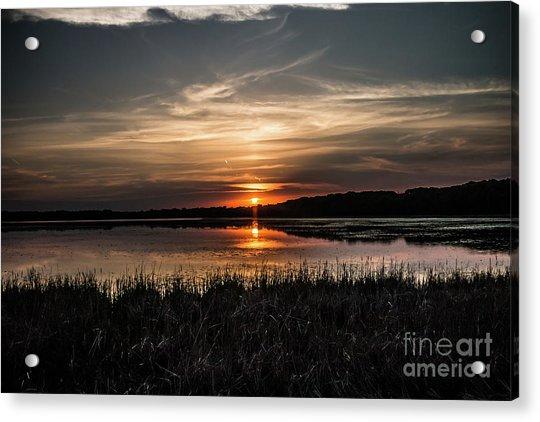 Lake Orrock Sunset Acrylic Print