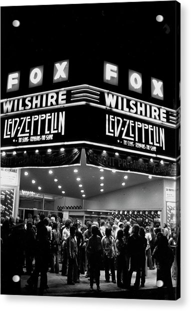 Led Zeppelin Song Remains The Same Acrylic Print