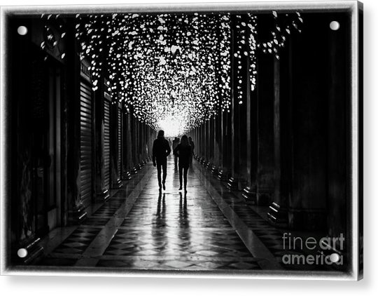 Light, Shadows And Symmetry Acrylic Print