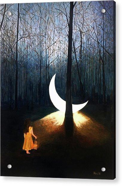 L'il Luna Acrylic Print