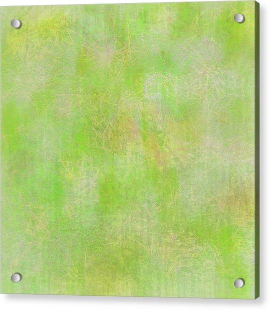 Lime Batik Print Acrylic Print