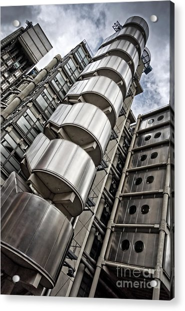 Lloyds Building In London Acrylic Print by Delphimages Photo Creations